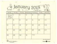 mill hill monthlybi monthly kits mhc2018 2018 hand drawn calendar new
