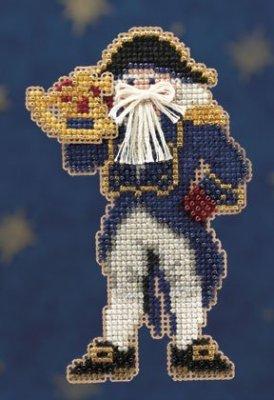 Mill Hill Santa Ornament Kits MH200301 Seafaring Santas 2010 ~ Captain Santa