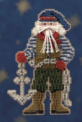 Mill Hill Santa Ornament Kits MH200303 Seafaring Santas 2010 ~ Boatswain Santa