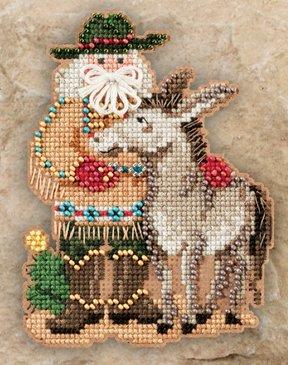 Mill Hill Santa Ornament Kits MH201301 Southwest Santas 2011 ~ Desert Santa