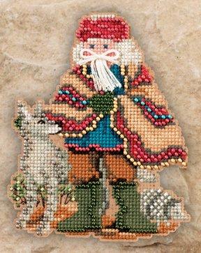 Mill Hill Santa Ornament Kits MH201303 Southwest Santas 2011 ~ Mesa Santa