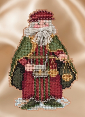 Mill Hill Santa Ornament Kits MH201631 Winter Series Santas 2016 ~ Renaissance Venice Santa