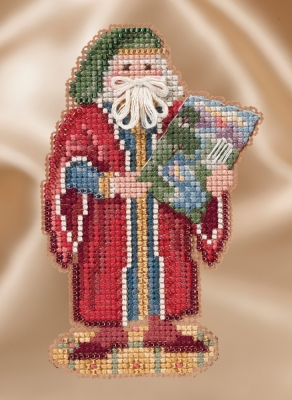 Mill Hill Santa Ornament Kits MH201632 Winter Series Santas 2016 ~ Renaissance Florence Santa