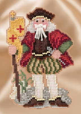 Mill Hill Santa Ornament Kits MH201633 Winter Series Santas 2016 ~ Renaissance Genoa Santa