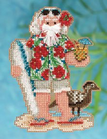 Mill Hill Santa Ornament Kits MH202301 Tropical Santas 2012 ~ Hawaii Santa