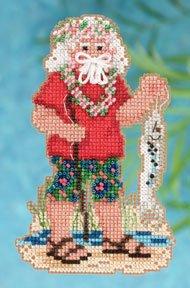 Mill Hill Santa Ornament Kits MH202302 Tropical Santas 2012 ~ Tahiti Santa