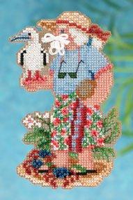 Mill Hill Santa Ornament Kits MH202303 Tropical Santas 2012 ~ Christmas Island Santa