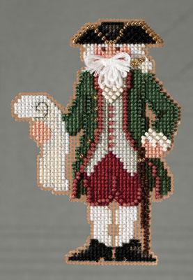 Mill Hill Santa Ornament Kits MH203301 Colonial Santas 2013 ~ Williamsburg Santa