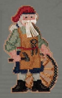 Mill Hill Santa Ornament Kits MH203302 Colonial Santas 2013 ~ Jamestown Santa