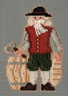 Mill Hill Santa Ornament Kits MH203303 Colonial Santas 2013 ~ Plymouth Santa