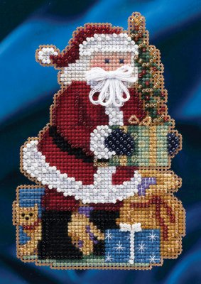 Mill Hill Santa Ornament Kits MH204301 Celebrations Santas 2014 ~ Merry Christmas Santa