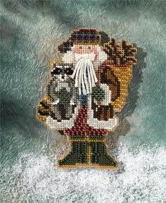 Mill Hill Santa Ornament Kits MH207302 Appalachian Santas 2007 ~ Blue Ridge Santa