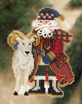 Mill Hill Santa Ornament Kits MH208302 Rocky Mountain Santas 2008 ~ Teton Santa