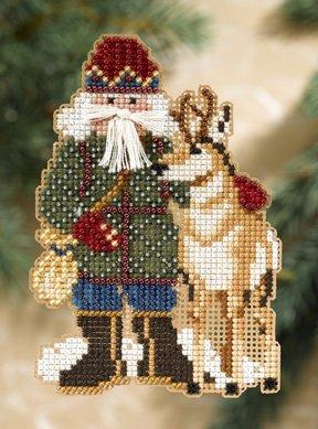 Mill Hill Santa Ornament Kits MH208303 Rocky Mountain Santas 2008 ~ Beartooth Santa