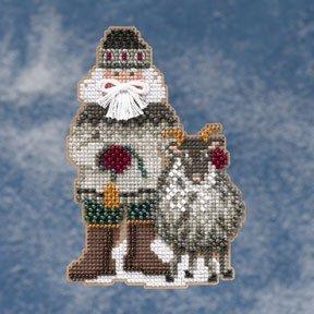 Mill Hill Santa Ornament Kits MH209301 Arctic Circle Santas 2009 ~ Greenland Santa