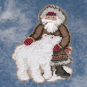 Mill Hill Santa Ornament Kits MH209303 Arctic Circle Santas 2009 ~ Nunavut Santa