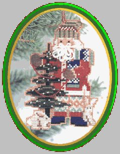 Mill Hill Santa Ornament Kits MHNS3 Northwoods Santas 1999 ~  Pine Tree Santa
