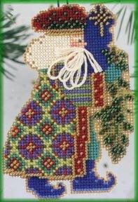 Mill Hill Santa Ornament Kits MHNS6 Starlight Santas 2000 ~ Eastern Star Santa