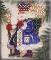 Mill Hill Santa Ornament Kits MHWS8 Woodland Santas 2001 ~ Frosty Santa