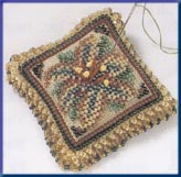 Mill Hill Special Edition Kits MHBPP2 Beaded Pin Pillows 2003 ~ Starlight Lily ~ 28 Count Linen