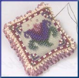 Mill Hill Special Edition Kits MHBPP5 Beaded Pin Pillows 2003 ~ Cameo Tulip ~ 28 Count Linen