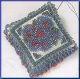 Mill Hill Special Edition Kits MHBPP6 Beaded Pin Pillows 2003 ~ Victorian Posey ~ 28 Count Linen