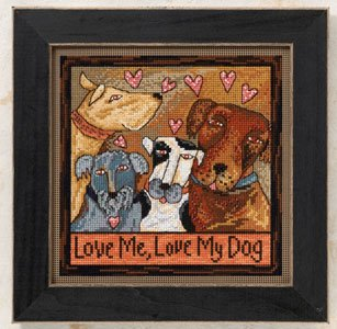 Mill Hill Sticks Kits ST150103 Everyday Series 2010 ~ Love Me, Love My Dog
