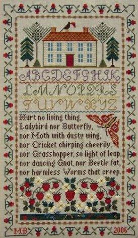 Moira Blackburn Strawberry House Sampler