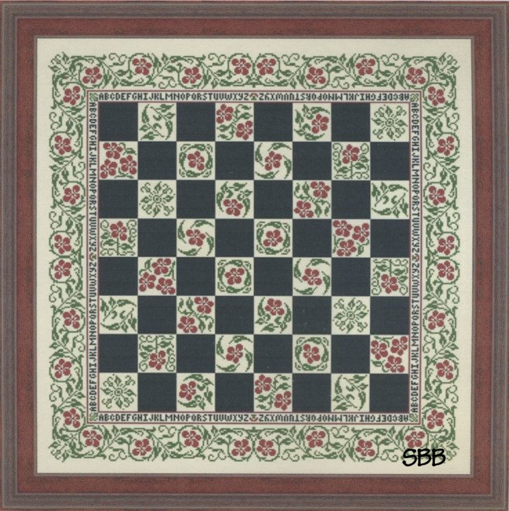 My Big Toe Designs Floral Checkerboard