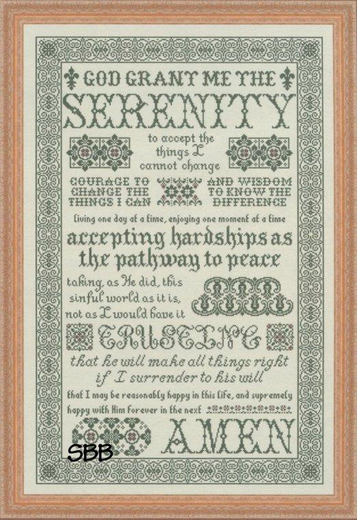 My Big Toe Designs Serenity Prayer