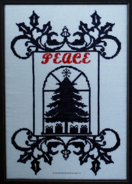 Needle Bling Designs Christmas Peace