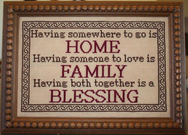 Needle Bling Designs Family Blessing