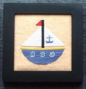 Needle Bling Designs Home Decor ~ August Sailboat