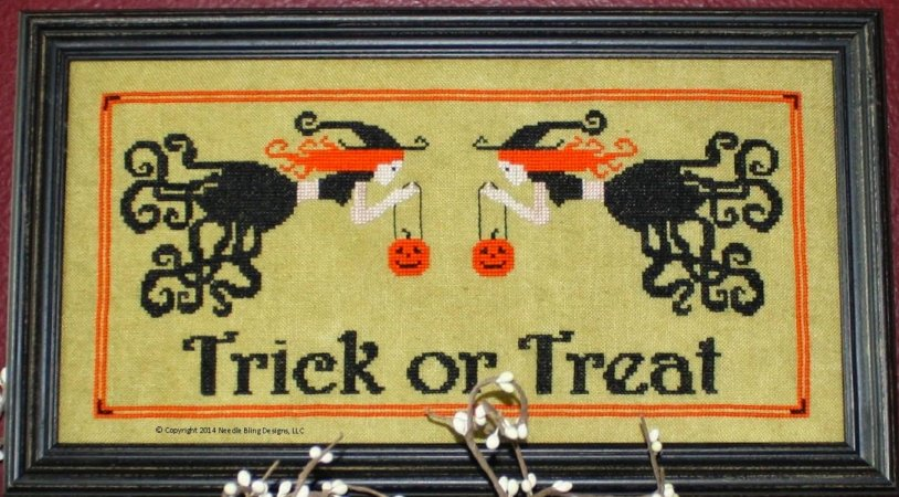 Needle Bling Designs Trick Or Treat (14-2217)