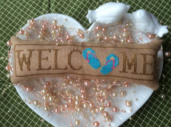 Needle Bling Designs Wee Welcome ~ July Flip Flops