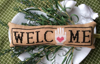 Needle Bling Designs Wee Welcome ~ September Heart In Hand