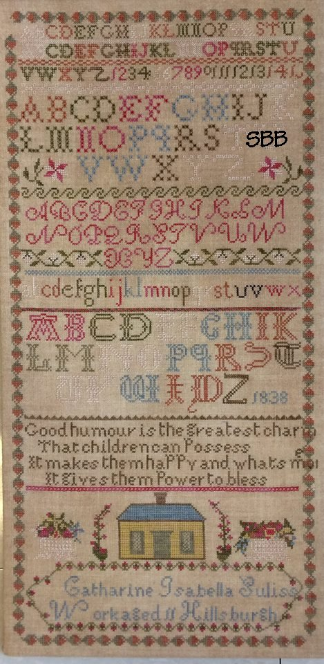 NeedleWorkPress   Catharine Isabella Suliss Sampler