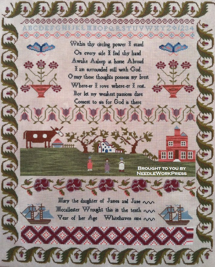 NeedleWorkPress Mary Mccallester 1824