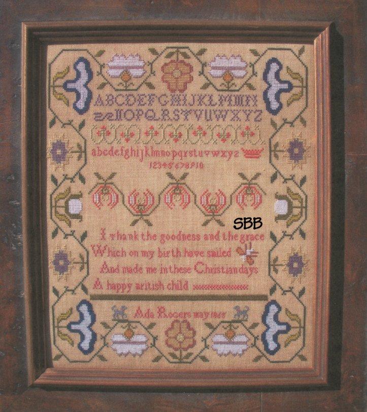 Needlemade Designs Ada Rogers 1865 Sampler
