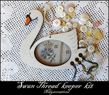 Nikyscreations Swan Thread Keeper Kit