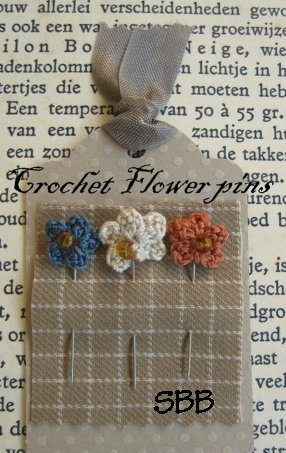 Nikyscreations Limited Edition Crochet Flower Pins