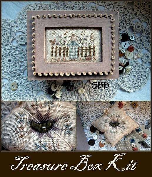 Nikyscreations Limited Edition Treasure Box With Fabric Covered French Bird Button