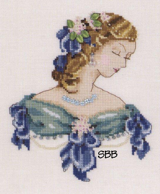 Nora Corbett Designs  #NC103 Portrait of Lauren in Blue