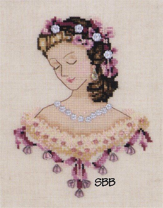 Nora Corbett Designs  #NC104 Portrait of Caroline in Pink