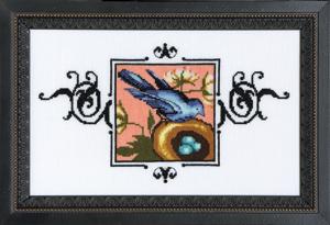 Nora Corbett Designs  #NC186 Audubon Street Collection ~ Blue Monarch Flycatcher