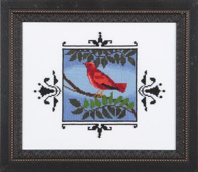 Nora Corbett Designs  #NC188 Audubon Street Collection ~ Scarlet Tanager