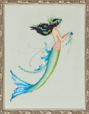 Nora Corbett Designs  #NC190 La Petite Mermaids Collection ~ Mermaid Azure