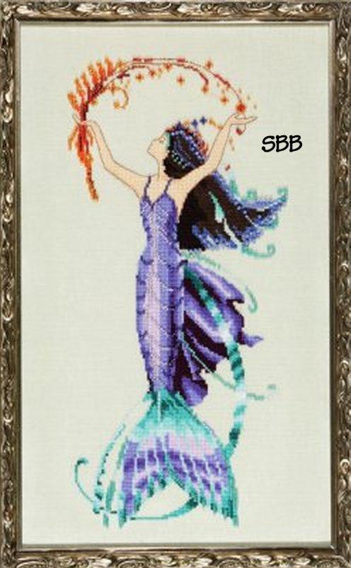 Nora Corbett Designs  #NC194 La Petite Mermaids Collection ~ Sea Flora