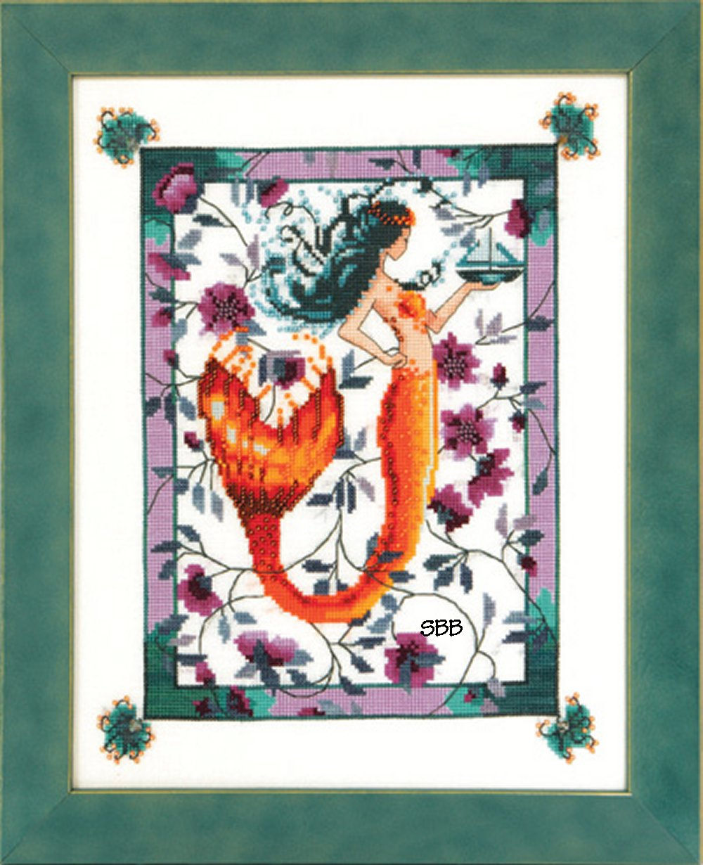 Nora Corbett Designs  #NC211 Sunrise Laguna Mermaid
