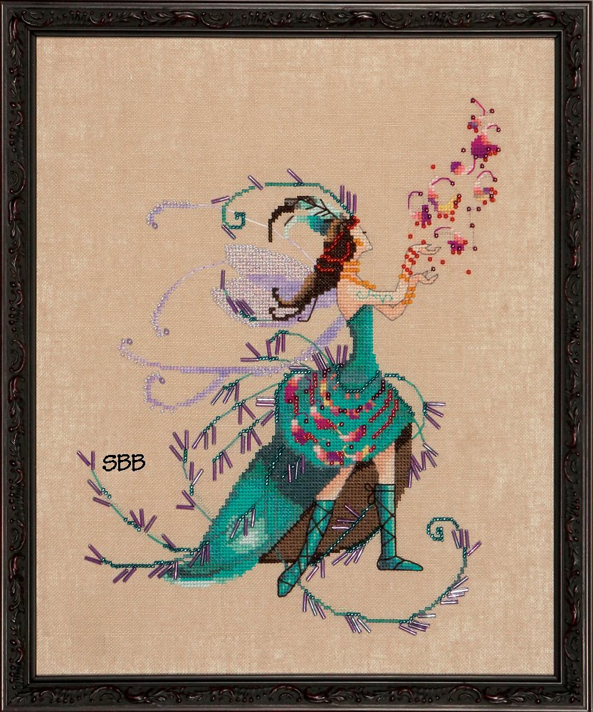 Nora Corbett Designs  #NC215 Black Forest Pixies ~ The Leaf Collector